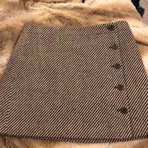 J. Crew Tweed Button Skirt